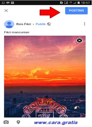 Unggah Foto di Google