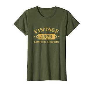 45th Birthday Gift Vintage 1973 T-Shirt Men Women