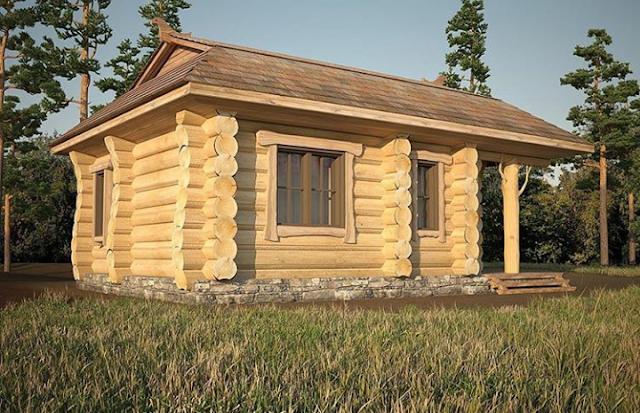 rumah kayu bongkar pasang murah