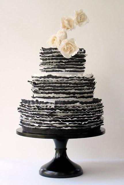 bolo preto e branco