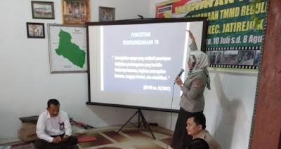 Dukung TMMD, BPBD Kabupaten Mojokerto Bekali Warga Kesiapsiagaan Bencana