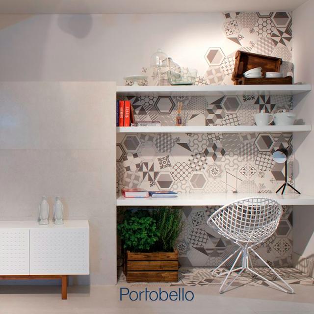 Blog Achados de Decoração, cantinho decorado Portobello cerâmicas