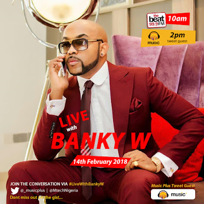 Music Plus Live Banner BankyW - Banky W has loads of surprises for fans this Valentine Season