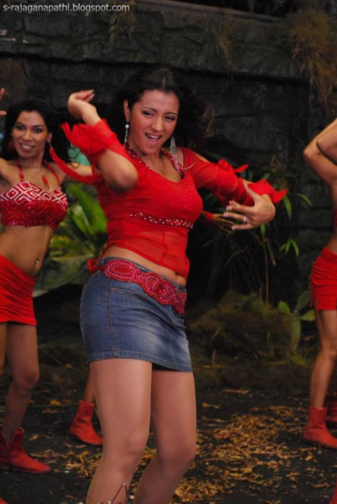 Trisha Sexy Dance Show In Red Dress Gateway To World