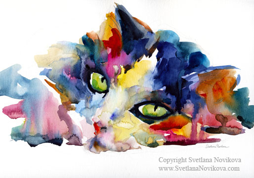 Felinity Expressed in Watercolor | Life With Cats