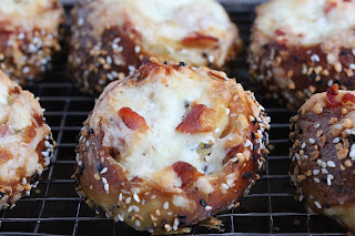 Bacon Cream Cheese Pretzel Buns