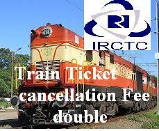 Train Ticket cancellation refund amont