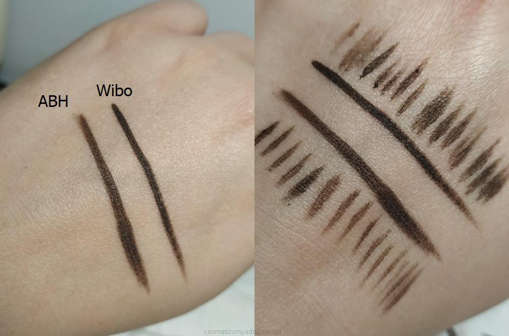 Anastasia Beverly Hills vs Wibo - porównanie pomad do brwi.