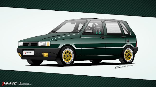 Imagem mostrando a frente do Fiat Uno 4p 1996 ''Juliano Henrique''
