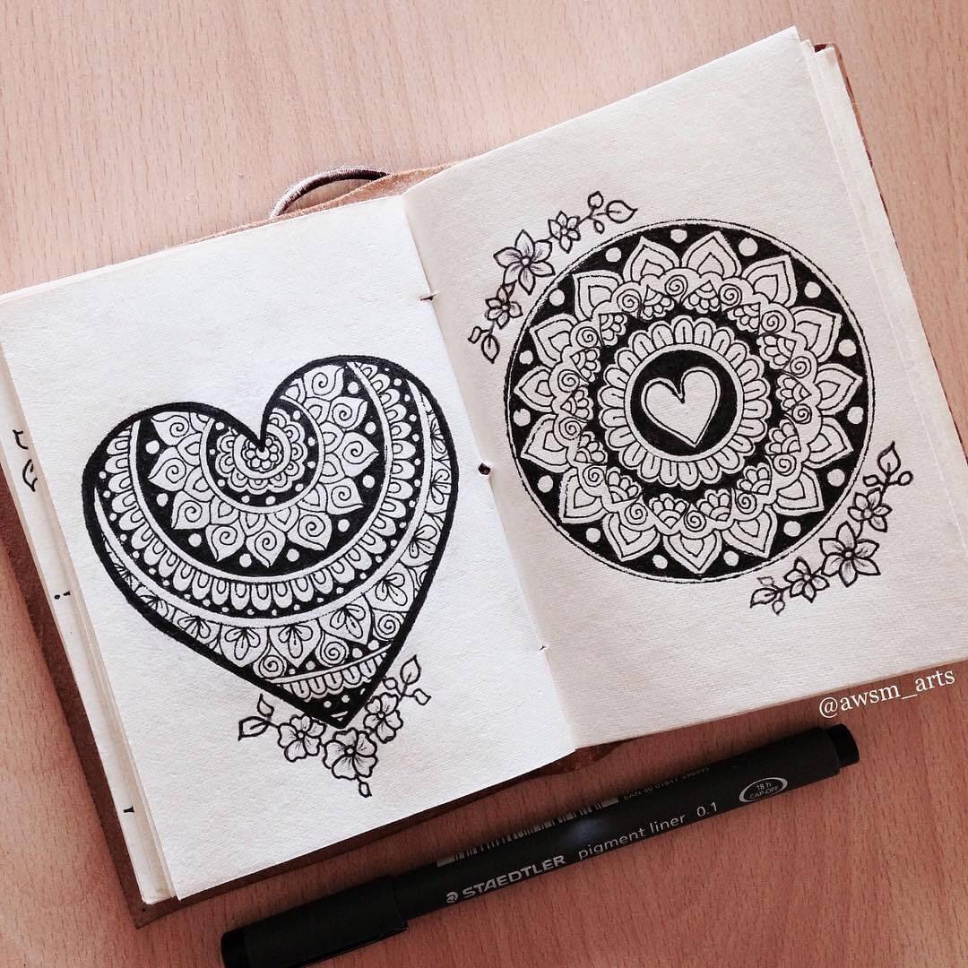 06-Hearts-Moleskine-Mandalas-Drawings-and-More-www-designstack-co