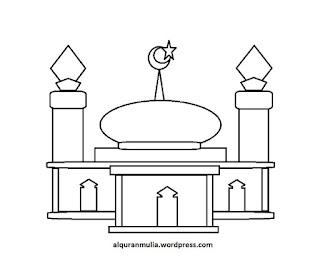 Gambar Sketsa Mewarnai Masjid Terbaru 201722