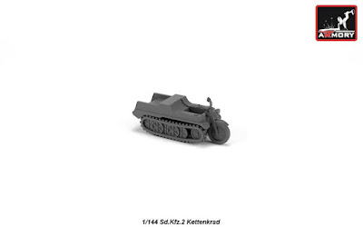 AR M14202 - 1/144 Sd.Kfz.2 Kettenkrad, resin kit picture 2