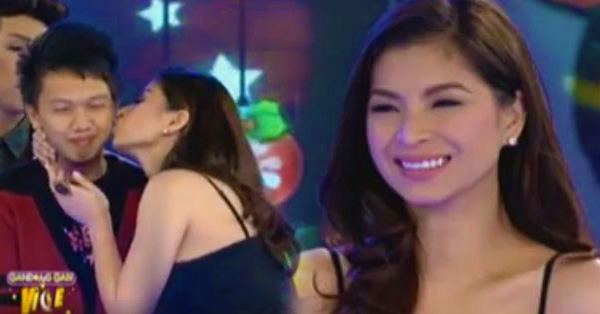 """""""Oy, Naco-Conscious!"""" Lucky Studio Audience Got A Kiss From Angel Locsin!"""