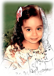 retratos infantis digitais