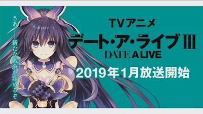 "Anime: Anunciada fecha de estreno de la tercera temporada de ""Date a Live"""