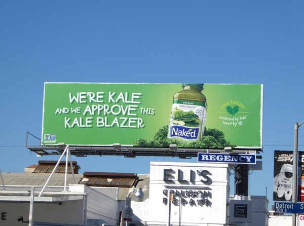 We approve Kale Blazer Naked Juice billboard