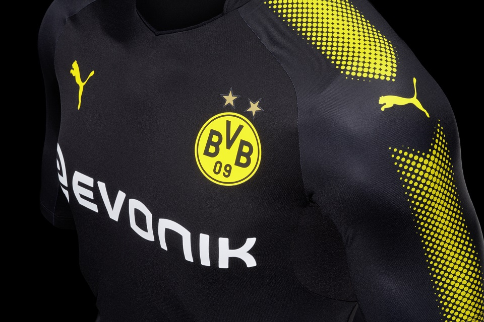 borussia dortmund 1718 away kit released footy headlines