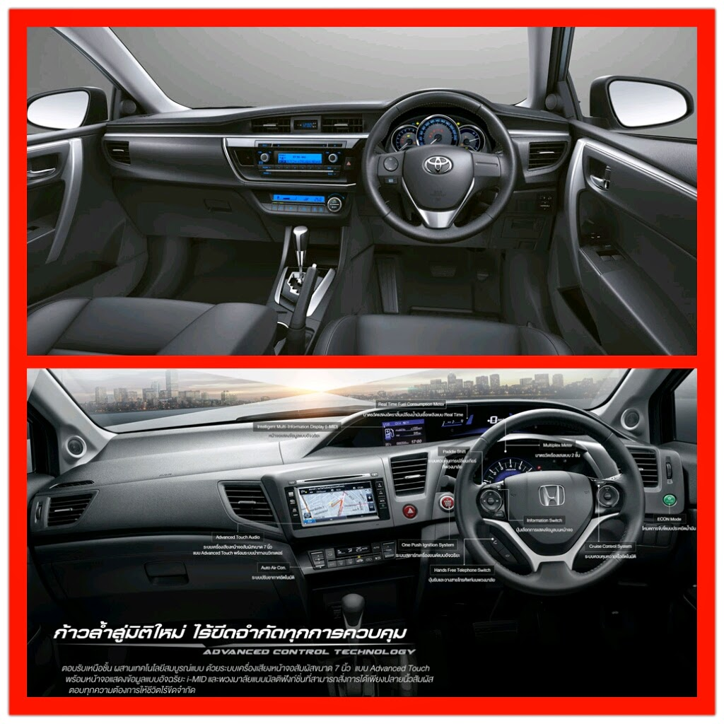 All New Corolla Altis Vs Civic Jual Aksesoris Grand Avanza Car News Update เปรยบเทยบมวยคเดอด ตอนท 12 Toyota