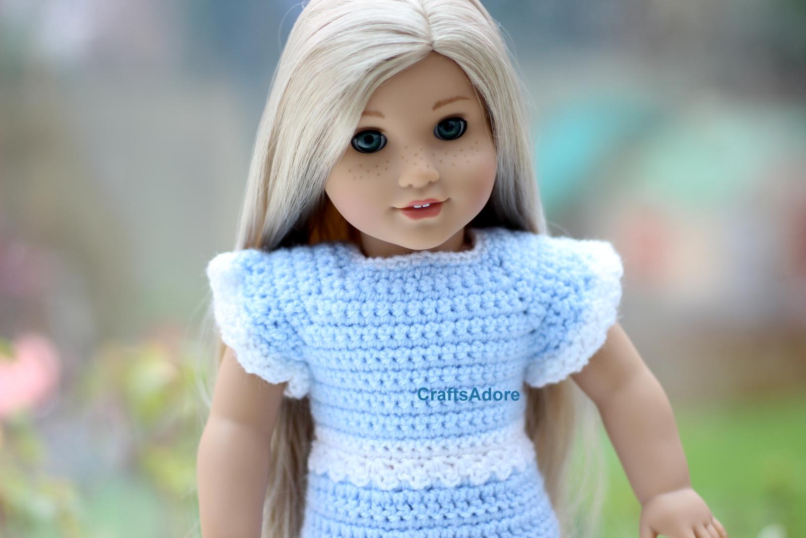 Crochet Patterns American Girl Doll : ... for American Girl Doll or other 18 inch dolls Free Crochet Pattern