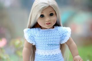 Crochet Elsa Doll Free : CraftsAdore: Frozen Inspired Crochet Dress for American ...