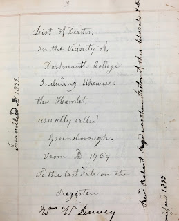 Image of handwritten title page to Dewey's notebook