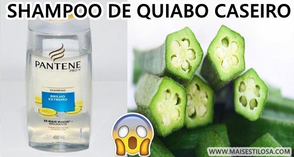 shampoo de quiabo caseiro