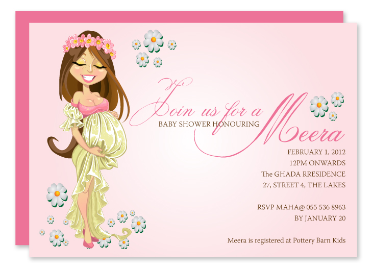 Paper Couture Stationery: Baby shower invites - baby girl