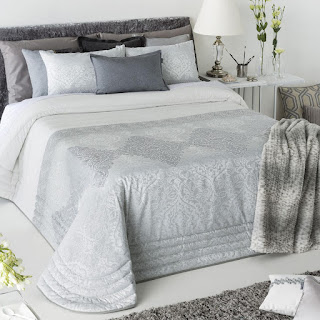 Colcha Bouti modelo Lasser color Gris de Antilo Textil