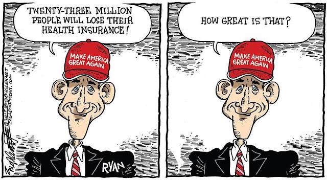 Paul Ryan wearing Trump hat saying,