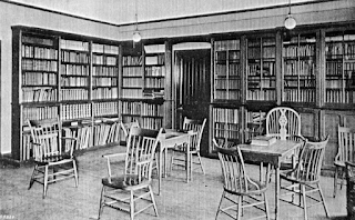 The Reading Room with its comprehensive collection of books.