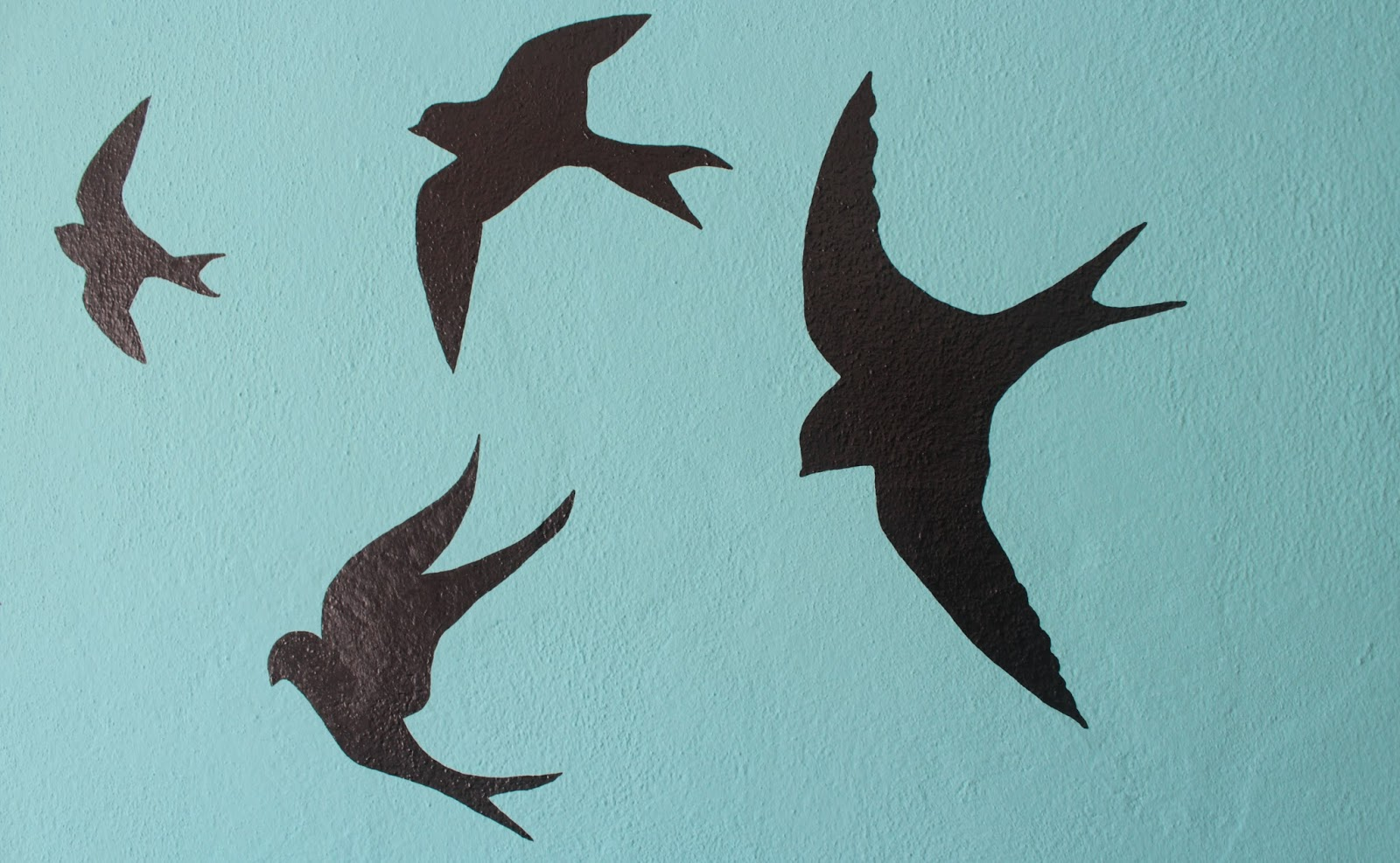 Swallows Wall Decor Curly Made