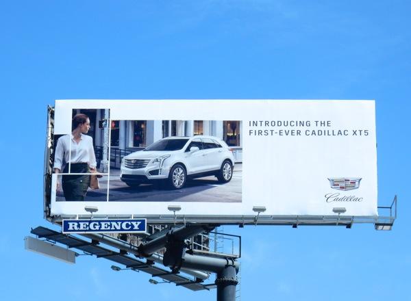 Cadillac XT5 billboard