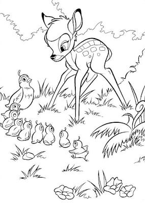 Gambar Mewarnai Bambi - 11
