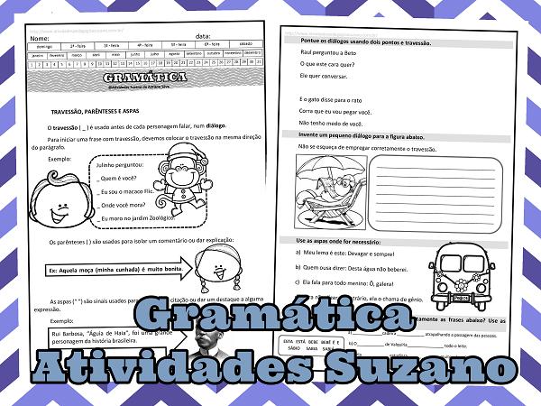 Gramatica-travessão-parênteses-aspas-atividades-suzano