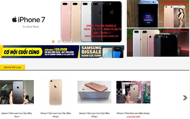 Shop bán điện thoại Đài Loan Apple và Android - TPHCM