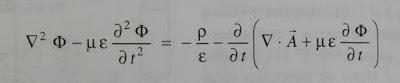 Ecuacion del potencial escalar