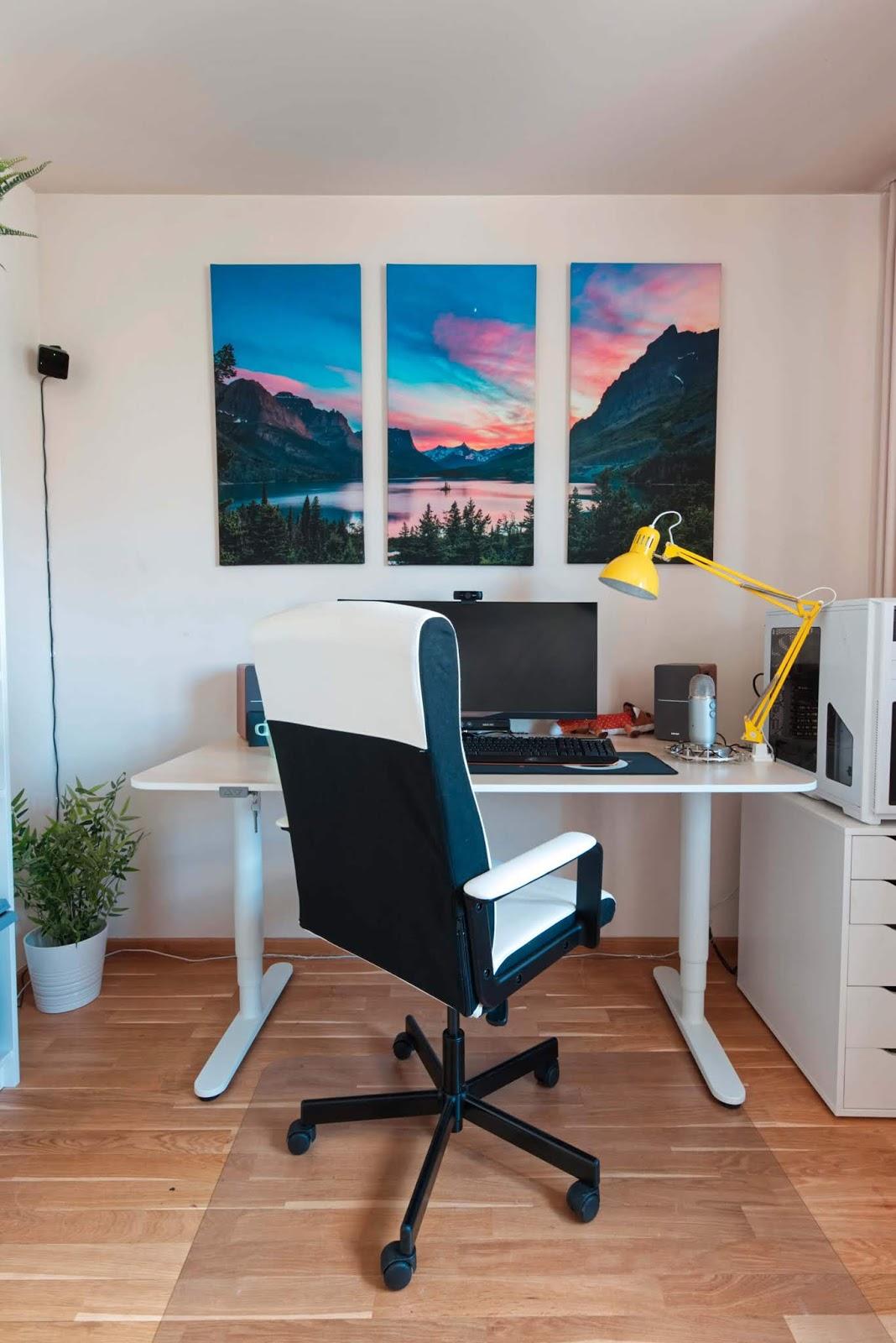 biurko i krzesło obrotowe z IKEA