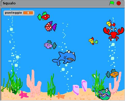 Gioco Scratch squalo  creato da Simone Bacciglieri