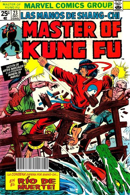 Portada de Master of Kung Fu Nº 23 traducido
