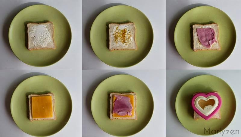 Confection croque-monsieur