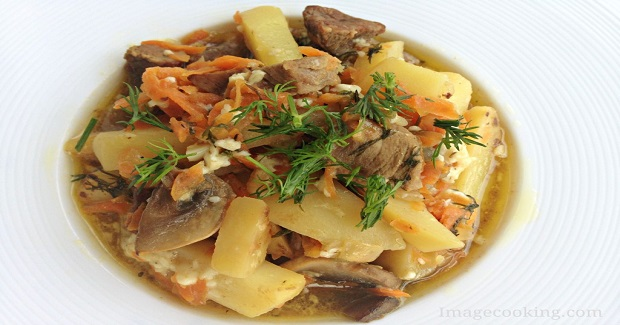 Braised Beef With Mushrooms And Potato Recipe