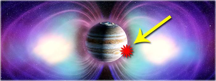 campo magnetico de jupiter tem polo extra - inversão de polos