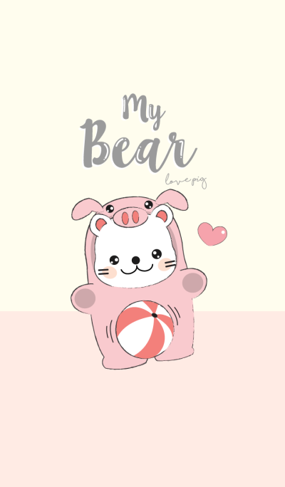 Bear love Pig. (Pink Ver.)