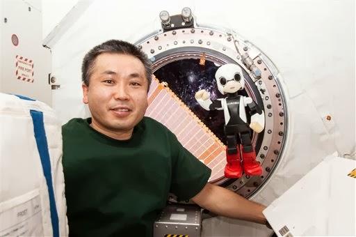Suburban spaceman KIROBO Japan robot chats with