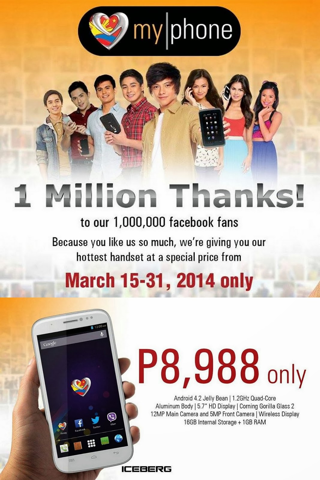 Promo alert Get a MyPhone Iceberg for only P8988