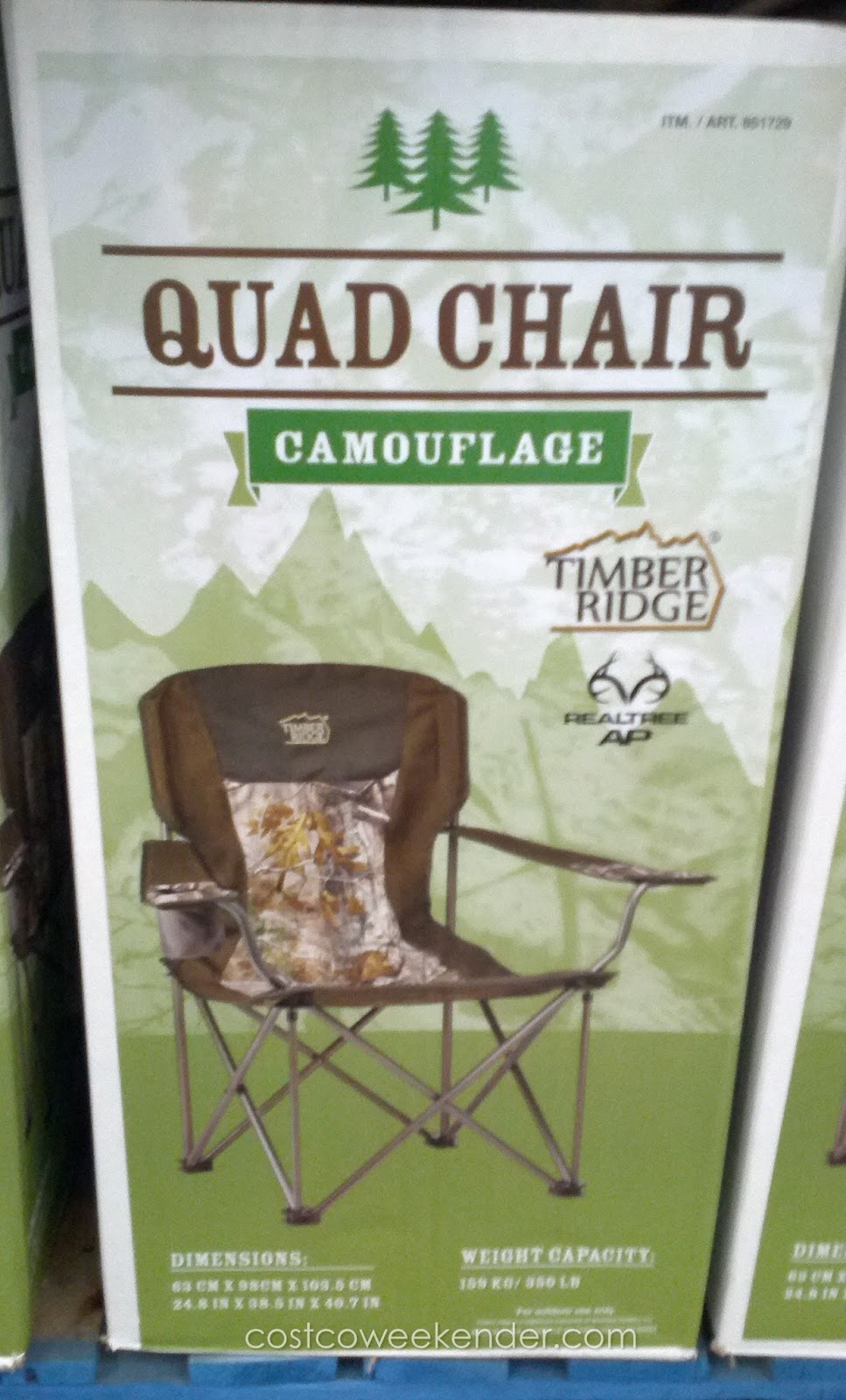 Timber Ridge Camouflage Quad Chair  Costco Weekender