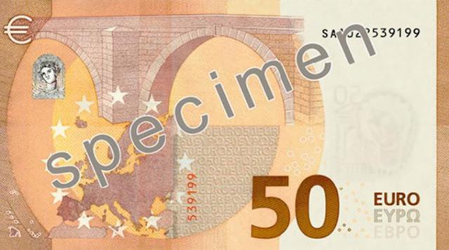 Voici le nouveau billet de 50 €