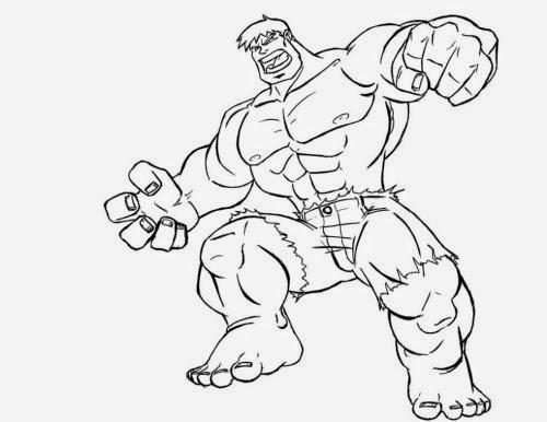 Gambar Mewarnai Hulk  Gambar Mewarnai Lucu