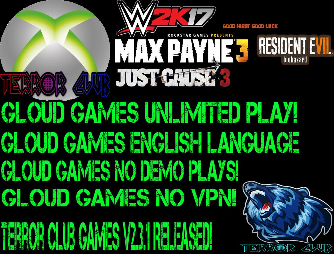 Gloud games english version no vpn download