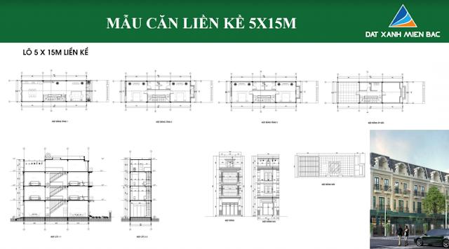 Hình ảnh thiết kế mẫu liền kề thuộc dự án Uông Bí New City(loại 5x15m)